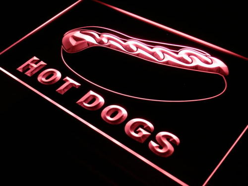 Hot Dog Dogs Shop Cafe Bar Neon Light Sign